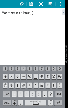Samsung N915FY Galaxy Note Edge - Email - Sending an email message - Step 10