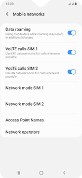 Samsung Galaxy A20e - Internet - Disable data roaming - Step 6