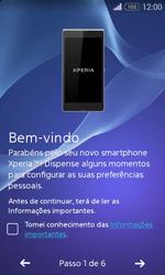 Sony Xperia E1 - Primeiros passos - Como ligar o telemóvel pela primeira vez -  5