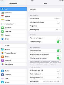 Apple iPad 9.7 (Model A1823) - E-mail - Handmatig instellen - Stap 16