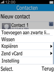 Alcatel 2045 (2045X) - Contacten en data - Contacten kopiëren van toestel naar SIM - Stap 5