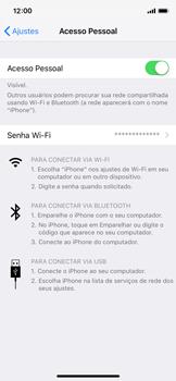 Apple iPhone iOS 12 - Wi-Fi - Como usar seu aparelho como um roteador de rede wi-fi - Etapa 8
