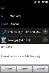 Samsung S7500 Galaxy Ace Plus - E-mail - envoyer un e-mail - Étape 14