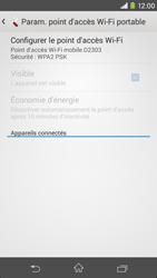 Sony Xpéria M2 - Internet et connexion - Partager votre connexion en Wi-Fi - Étape 11
