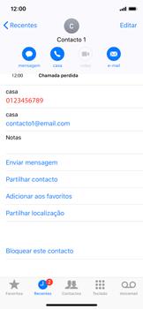 Apple iPhone X - iOS 12 - Chamadas - Como bloquear chamadas de um número -  5