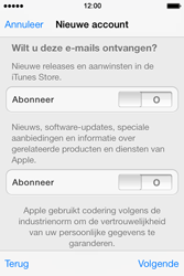 Apple iPhone 4 S iOS 7 - Applicaties - Account instellen - Stap 16