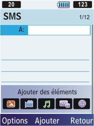 Samsung S5610 Primo - MMS - envoi d'images - Étape 4