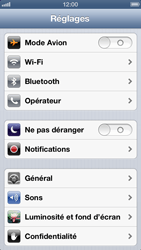Apple iPhone 5 - Wifi - configuration manuelle - Étape 2