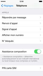 Apple iPhone 5s (iOS 8) - Sécuriser votre mobile - Personnaliser le code PIN de votre carte SIM - Étape 4