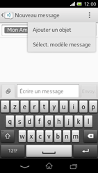 Sony C1905 Xperia M - MMS - envoi d'images - Étape 9