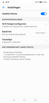 Huawei P20 Lite Dual-SIM (Model ANE-LX1) - WiFi - Mobiele hotspot instellen - Stap 10