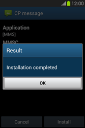 Samsung S6810P Galaxy Fame - MMS - Automatic configuration - Step 7