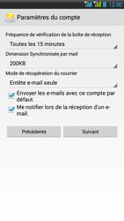 HTC Desire 516 - E-mail - Configuration manuelle - Étape 18