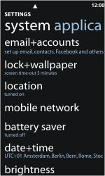 Nokia Lumia 800 - Internet - Enable or disable - Step 4