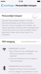 Apple iPhone 5s iOS 10 - WiFi - WiFi hotspot instellen - Stap 9