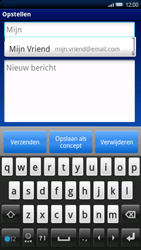 Sony Ericsson Xperia X10 - E-mail - e-mail versturen - Stap 5