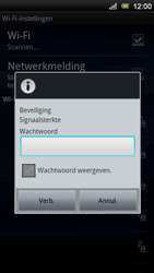 Sony Ericsson Xperia Neo V - Wifi - handmatig instellen - Stap 8