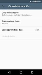 Sony Xperia XA1 - Internet - Ver uso de datos - Paso 8