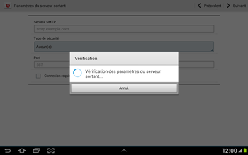 Samsung N8000 Galaxy Note 10-1 - E-mail - Configuration manuelle - Étape 13
