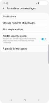 Samsung Galaxy S10 Plus - SMS - configuration manuelle - Étape 7