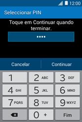 Samsung Galaxy Young II - Segurança - Como ativar o código de bloqueio do ecrã -  8
