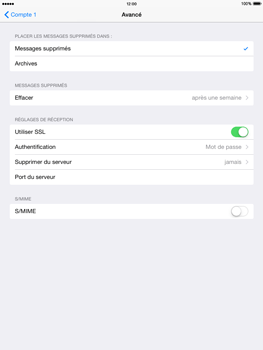 Apple iPad 2 iOS 8 - E-mail - Configuration manuelle - Étape 21
