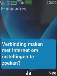 Nokia 6600 slide - E-mail - Handmatig instellen - Stap 12