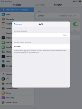 Apple iPad Pro 9.7 - iOS 12 - E-mail - Configurer l