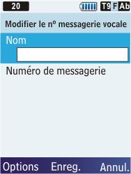 Samsung C3350 Xcover 2 - Messagerie vocale - configuration manuelle - Étape 8