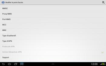 Samsung P5100 Galaxy Tab 2 10-1 - Internet - configuration manuelle - Étape 13