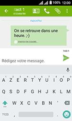 Alcatel U3 - Contact, Appels, SMS/MMS - Envoyer un SMS - Étape 11
