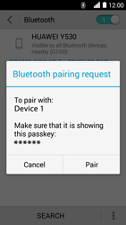 Huawei Ascend Y530 - WiFi and Bluetooth - Setup Bluetooth Pairing - Step 6
