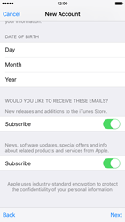 Apple iPhone 6 iOS 9 - Applications - Create an account - Step 17