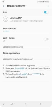 Samsung galaxy-note-9-sm-n960f - WiFi - Mobiele hotspot instellen - Stap 13