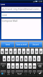 Sony Ericsson Xperia X10 - Email - Sending an email message - Step 7