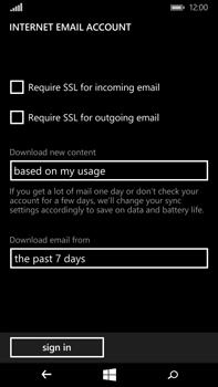 Microsoft Lumia 640 XL - Email - Manual configuration POP3 with SMTP verification - Step 20