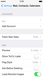 Apple iPhone 5 iOS 7 - E-mail - Manual configuration - Step 14