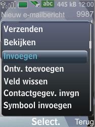 Nokia 7210 supernova - E-mail - E-mails verzenden - Stap 10