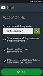 Doro 8035 - E-mail - Account instellen (IMAP met SMTP-verificatie) - Stap 19