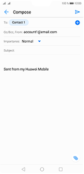 Huawei P20 Pro - Email - Sending an email message - Step 7