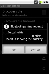 Alcatel OT-991 Smart - Bluetooth - Pair with another device - Step 8