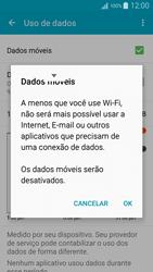 Samsung Galaxy A5 - Rede móvel - Como ativar e desativar uma rede de dados - Etapa 6
