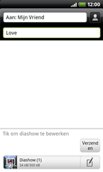 HTC A7272 Desire Z - MMS - afbeeldingen verzenden - Stap 11