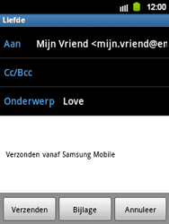 Samsung S5360 Galaxy Y - E-mail - e-mail versturen - Stap 6