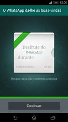 Sony Xperia M2 - Aplicações - Como configurar o WhatsApp -  10