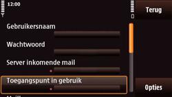 Nokia N97 Mini - E-mail - Handmatig instellen - Stap 23