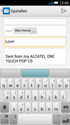 Alcatel OT-5036X Pop C5 - E-mail - Hoe te versturen - Stap 8