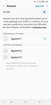 Samsung Galaxy Note9 - Bluetooth - connexion Bluetooth - Étape 12