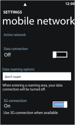 Nokia Lumia 710 - Internet - Enable or disable - Step 5