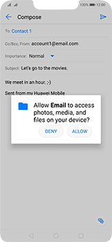 Huawei Mate 20 Lite - Email - Sending an email message - Step 11